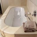 Tapis de bain antidérapant avec dossier de soutien