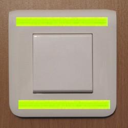Bandes phosphorescentes et autocollantes (x 6)