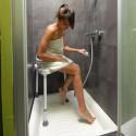 Tabouret de douche pour angle