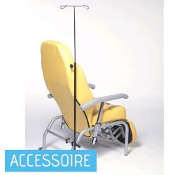 Porte sérum pour fauteuil de repos