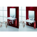 Support lavabo réglable avec miroir