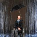Grand parapluie pour fauteuil roulant