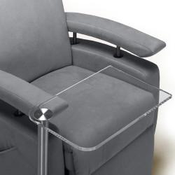 Table transparente pour fauteuil releveur Fitform
