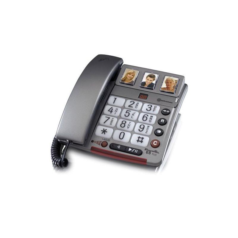 Téléphone avec touches photos PowerTel 68 plus