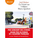 Livre audio CD : La Vérité sur l'affaire Harry Quebert