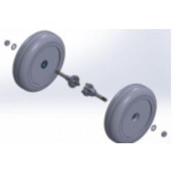 Set de roues arrières pour fauteuil roulant électrique Zinger