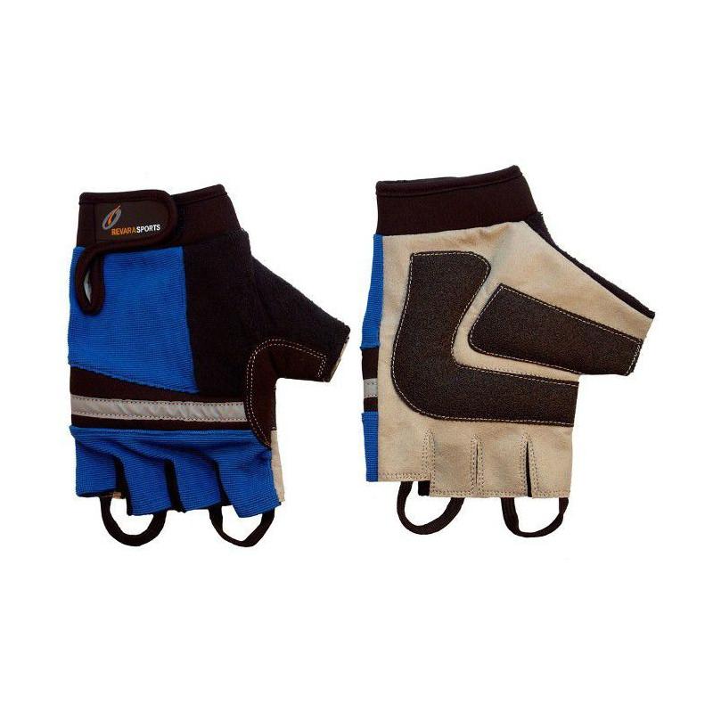 Mitaines pour fauteuil roulant REVARA Sport - bleu