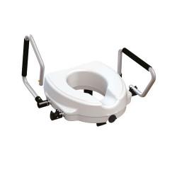 Réhausseur de WC avec accoudoirs relevables