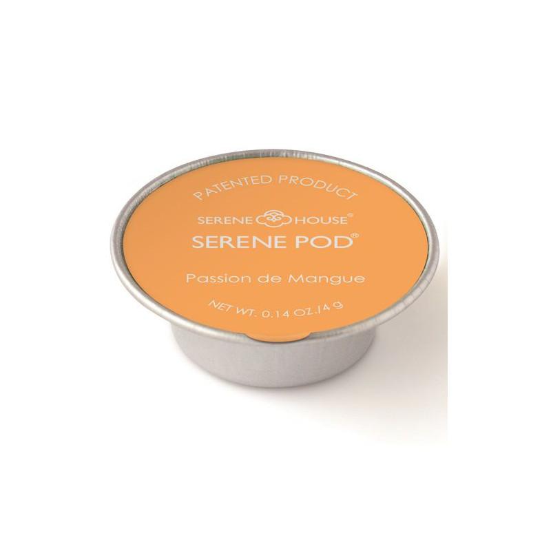 Lot de 6 capsules de cire parfumée Serene Pod Passion de Mangue - 4 g