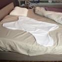 Taie d'oreiller ergonomique pour patient ventilé coton zippée