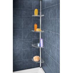 Etagère télescopique de douche en acier inox