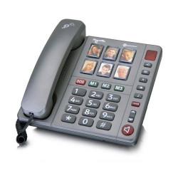 Téléphone avec touches photos + répondeur PowerTel 92