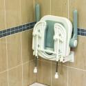 Siège de douche en U dossier et accoudoirs