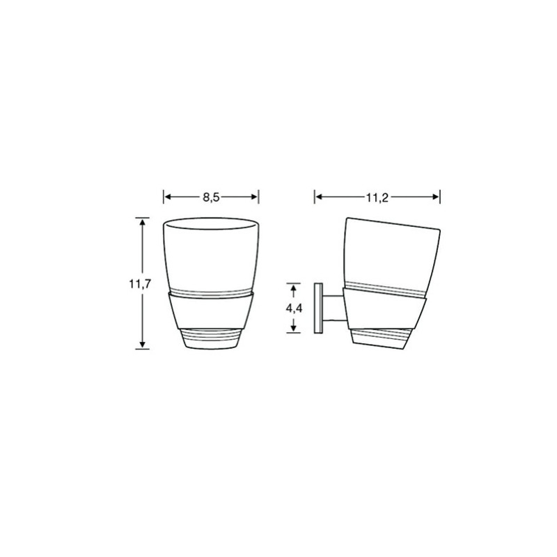 Porte verre avec gobelet en polycarbonate