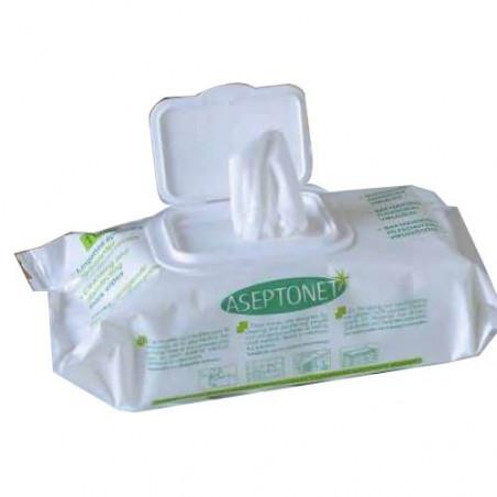 100 Lingettes Desinfectantes Aseotonet