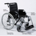 Fauteuil roulant manuel ECLIPS 30 dossier inclinable