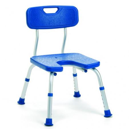 Chaise de douche avec découpe Melbourne bleu