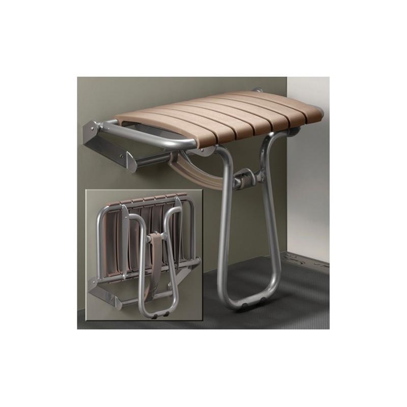 Siège de douche escamotable avec béquille automatique grande taille