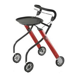 Déambulateur 4 roues LET'S GO Rollator rouge