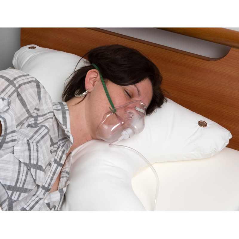 Oreiller ergonomique pour patient ventilé