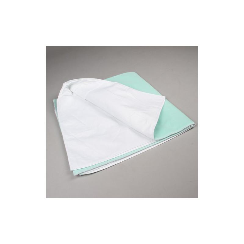 Alèse lavable en tissu bordable avec rabats (x1)
