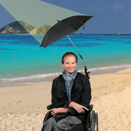 Parasol pour fauteuil roulant