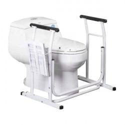 Rail de maintien WC avec porte-revues