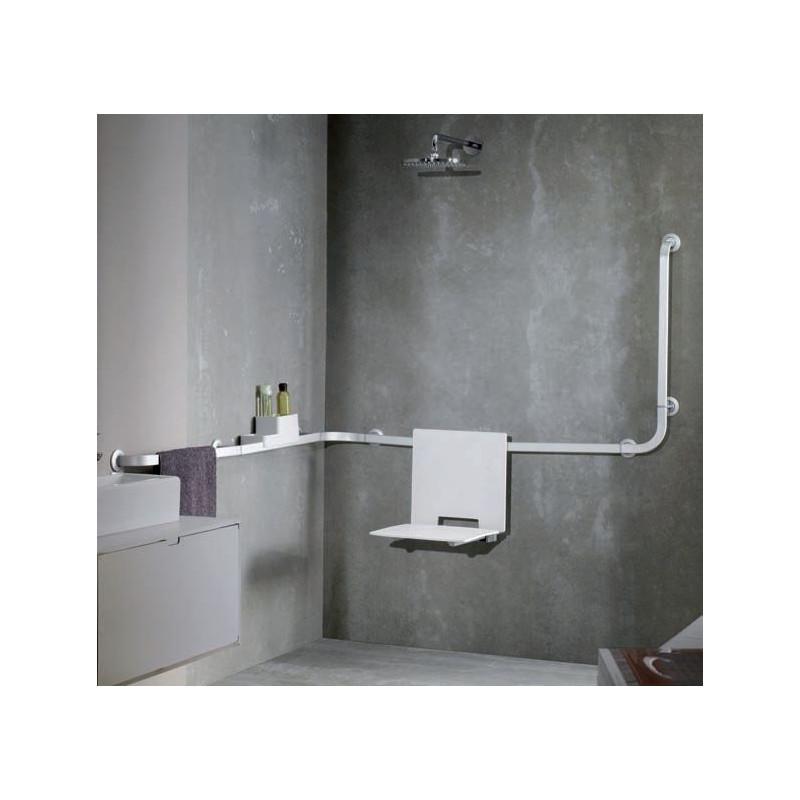 Siège de douche avec dossier à suspendre sur barre Solid