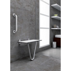 Siège de douche large avec support au sol Solid
