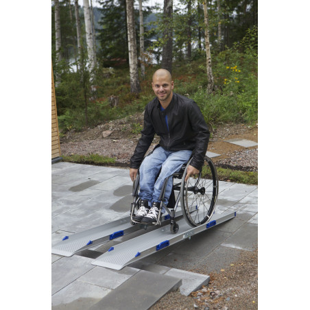 Rampes d'accès alu par paire pliable FEAL