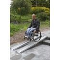 Paire de rampes d'accès télescopiques en aluminium