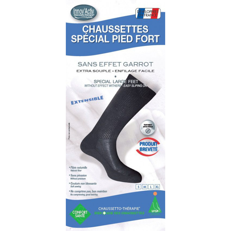 Chaussettes spécial pied fort