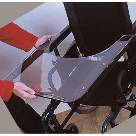 Tablettes universelles pour fauteuils roulants