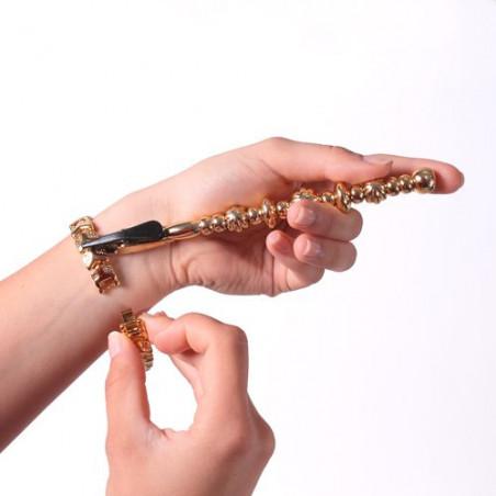 Attache bracelet doré