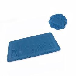 Repose-tête et tapis de bain antiglisse mousse confort