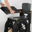 Assise de siège pour chaise de douche pliante Wheelable