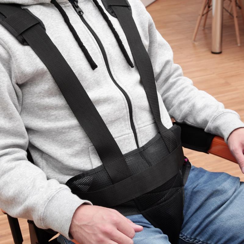 Gilet périnéen respirant pour fauteuil roulant