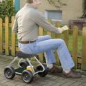 Siège de jardinage roulant