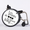 Flasque fauteuil roulant Les points de suspension en disent long...