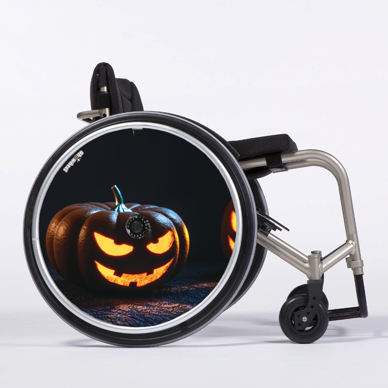 Flasque fauteuil roulant Halloween