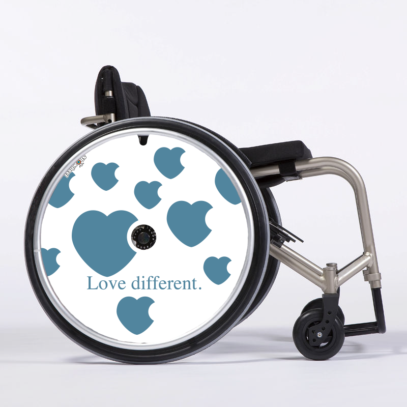 Flasque fauteuil roulant Love different