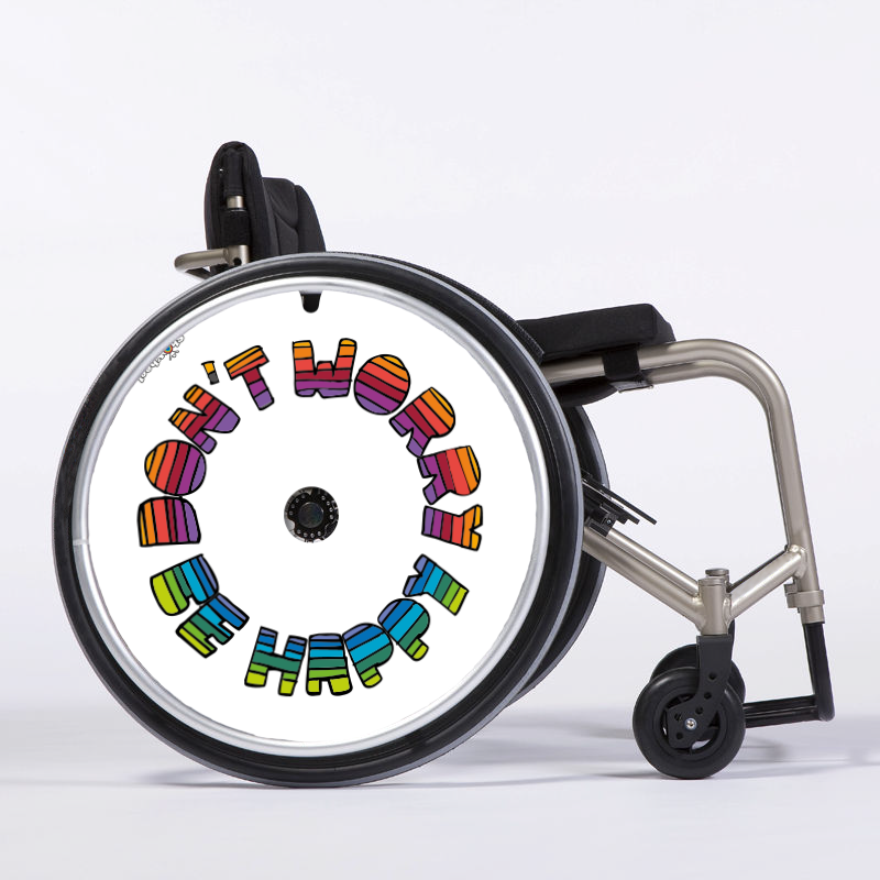 Flasque fauteuil roulant Don't worry, be happy !