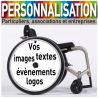 Flasque fauteuil roulant à personnaliser