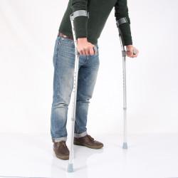 Paire de béquilles ergonomique avec coudière