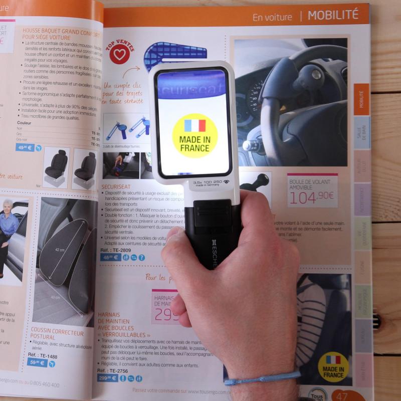 Loupe électronique portable MOBILUX malvoyant