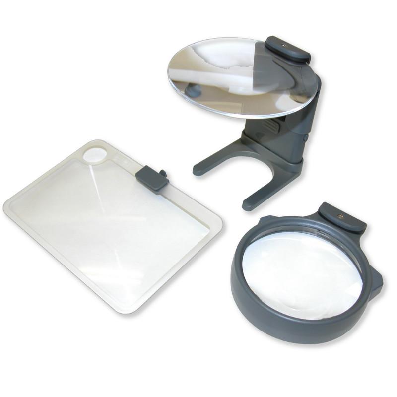 Kit 3 loupes éclairantes Hobby Magnifier