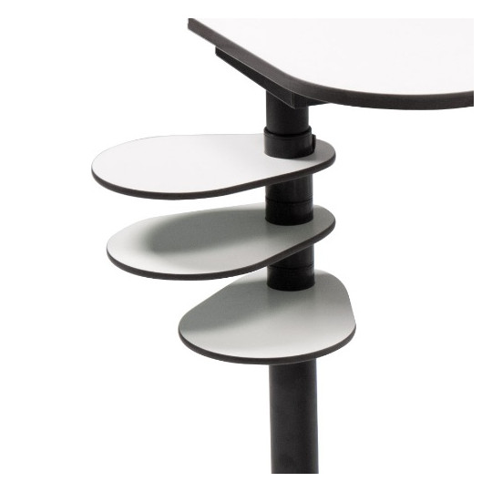 Tablettes latérales pour pied de table ergot'technik