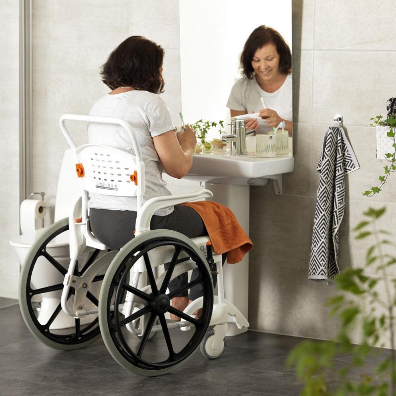 Fauteuil roulant de douche et de toilettes Clean