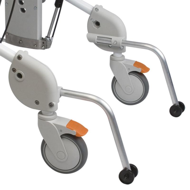 Roulettes anti bascule avec fixation pour fauteuil de douche Swift Mobile