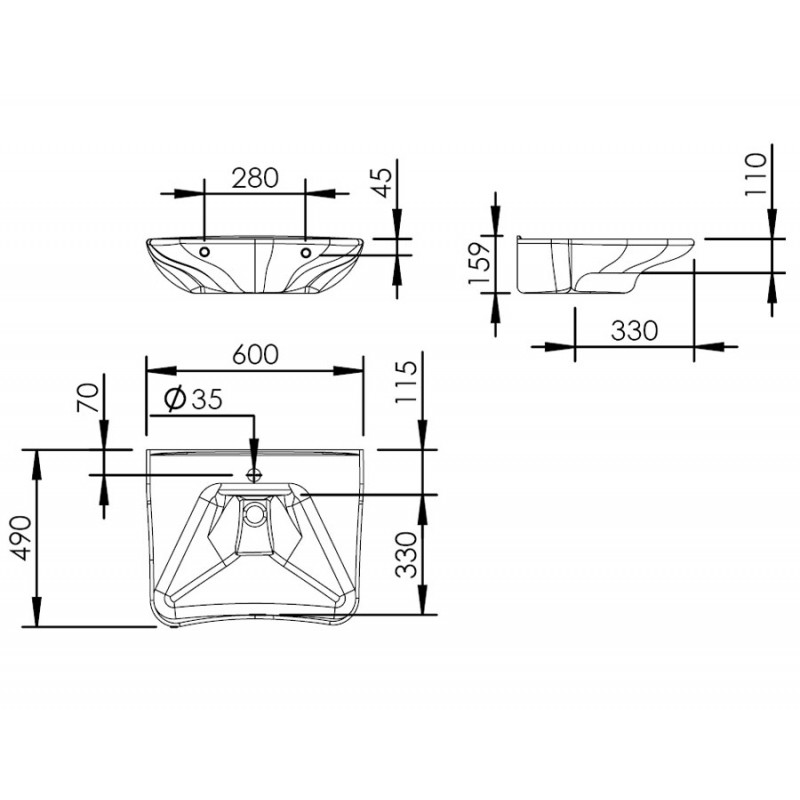 Lavabo PMR Basicline - 400-001